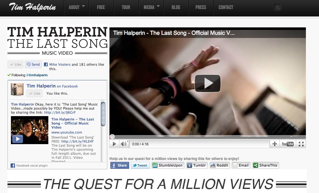TimHalperin.com - Screenshot