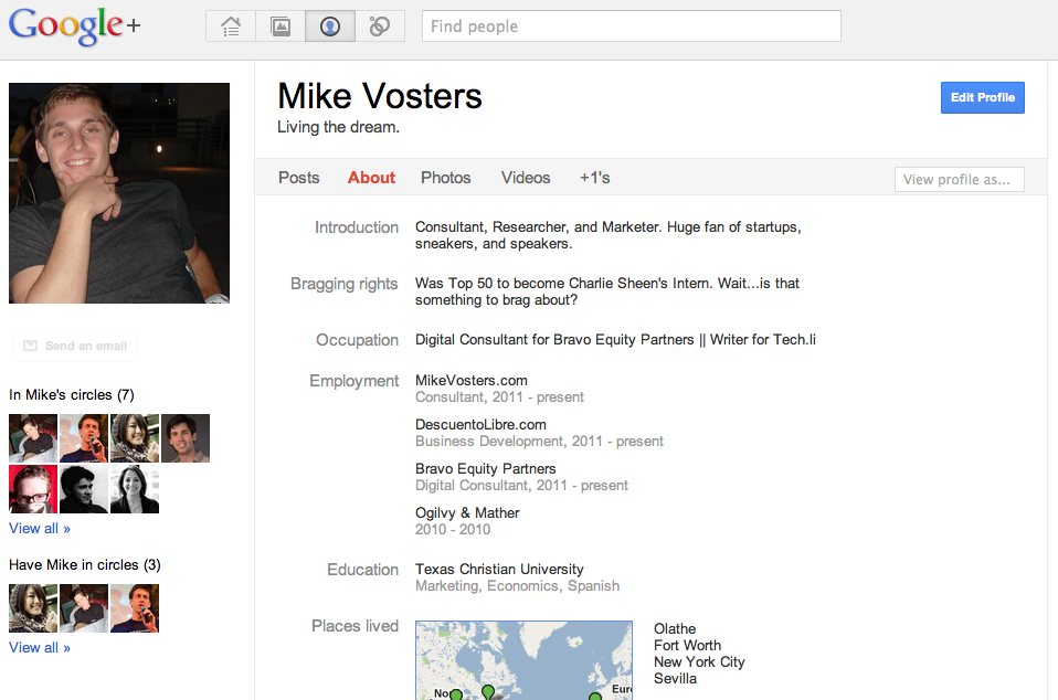 Google+ - Mike Vosters Profile