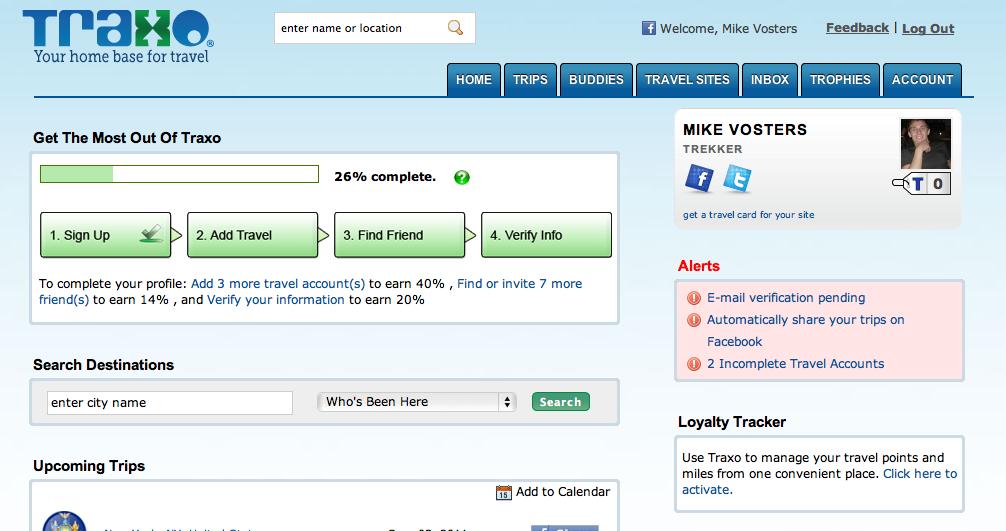Traxo - Dashboard Screenshot