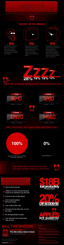 Wake N Shake - Snooze Infographic
