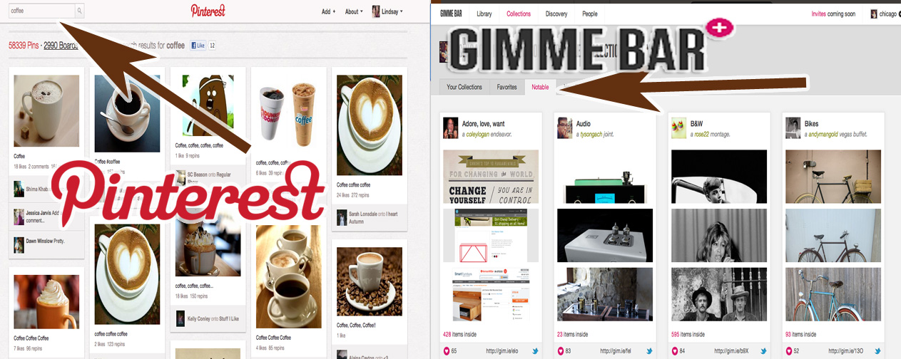 gimme bar vs pinteresr