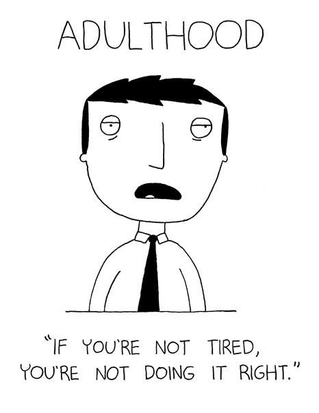tired cartoon