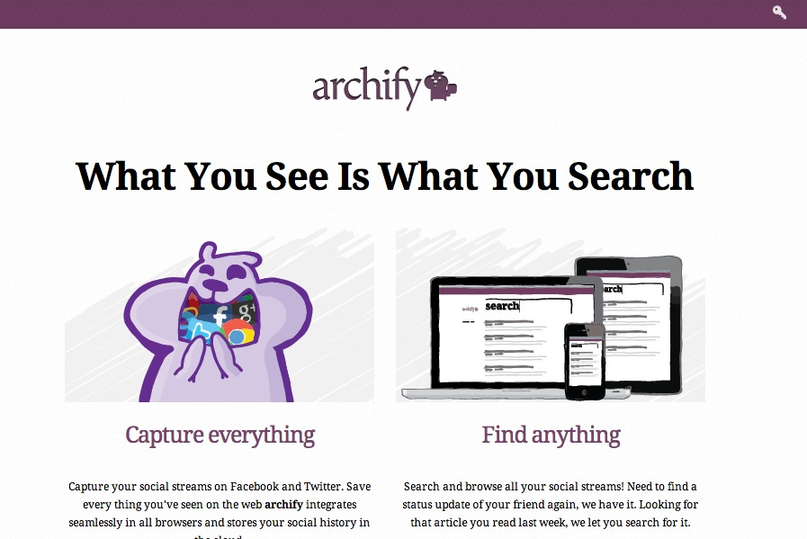 Homepage of Archify