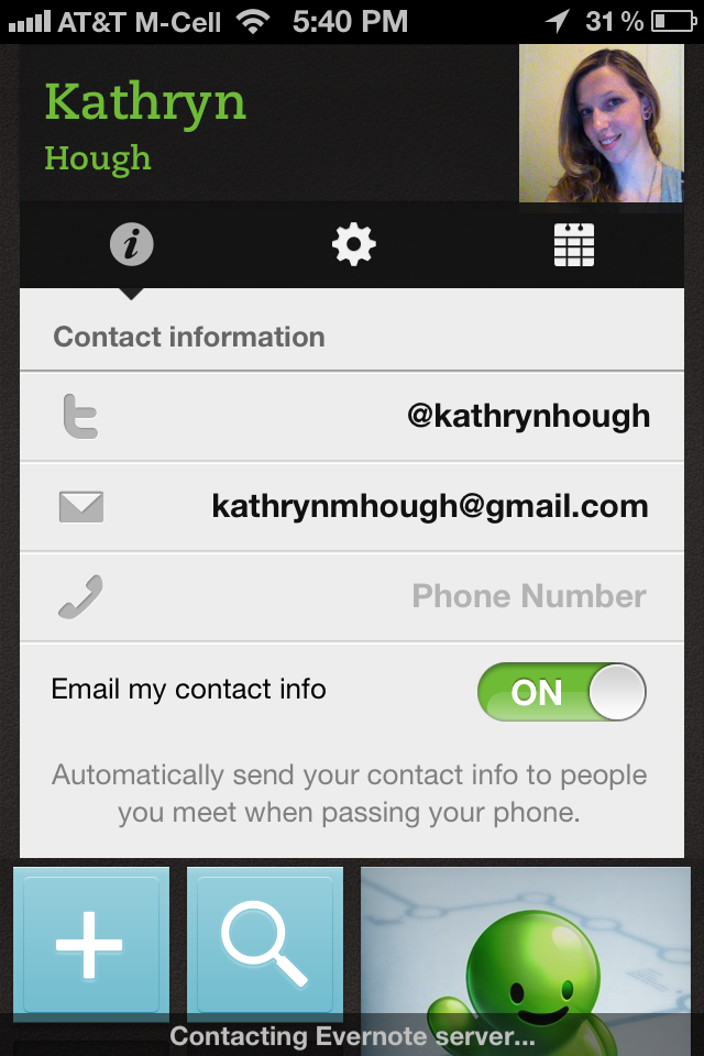 evernote hello app screenshot 1