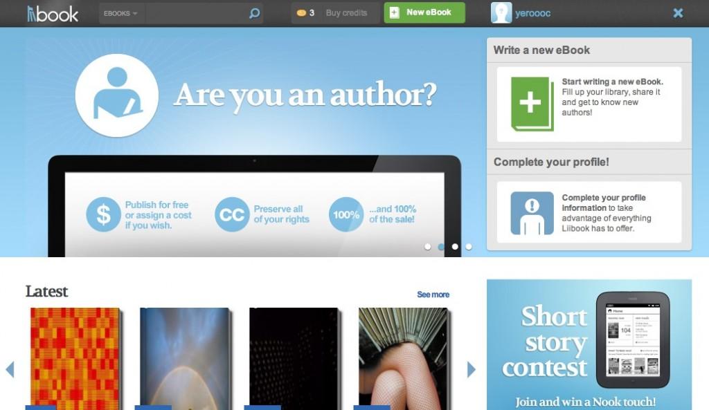 Homepage for Liibook