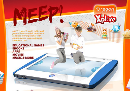 Homepage for MEEP Tablet