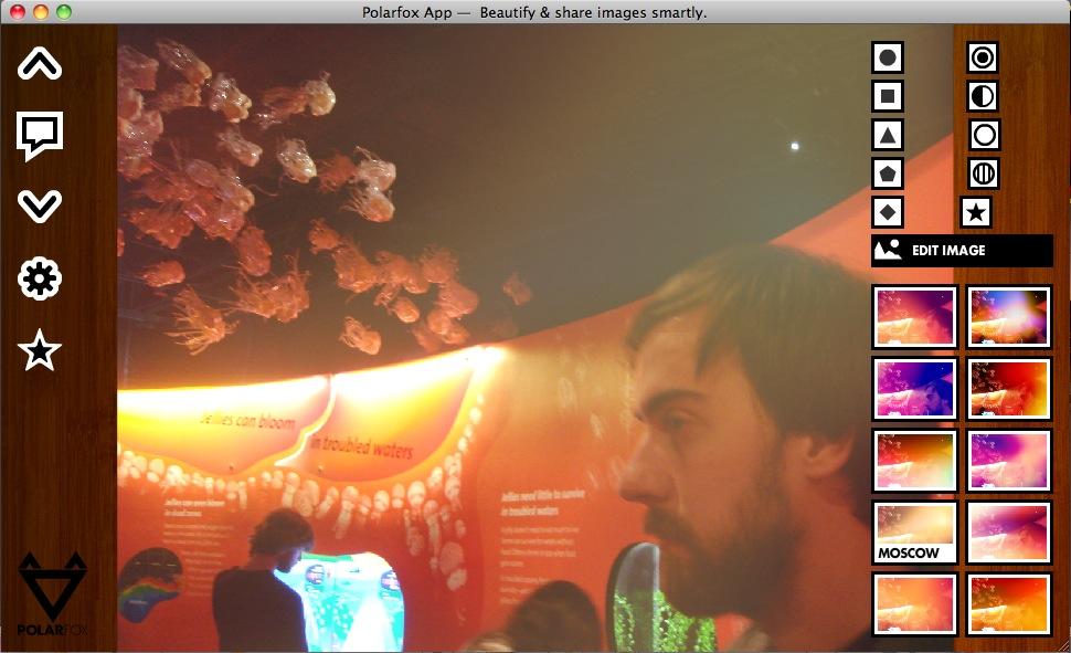 Image Edit Screen in Polarfox