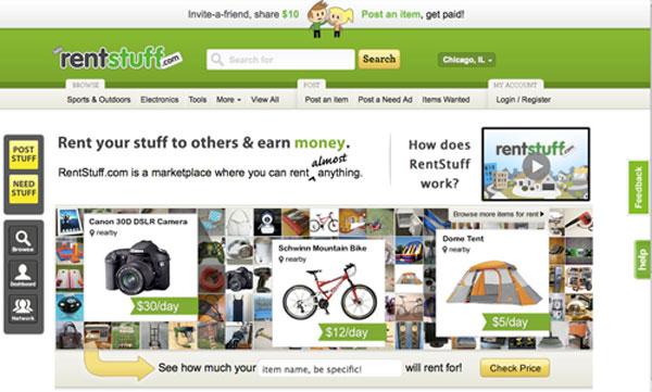 Rentstuff.com home page