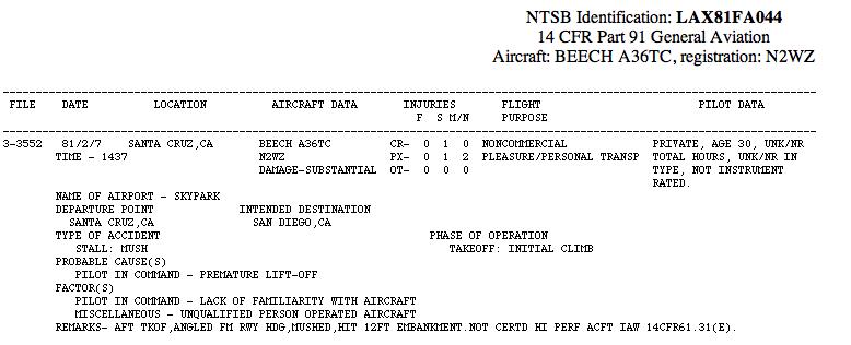 Steve Wozniak Airplane Crash Report