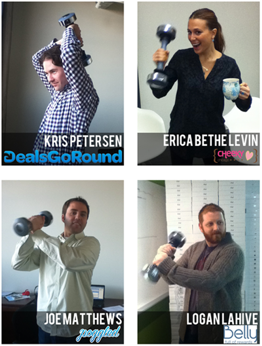 ceos with a shake weight