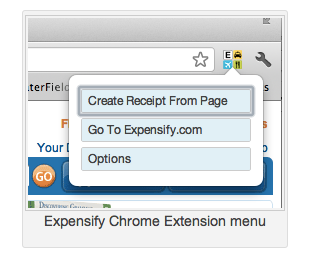 Expensify Chrome Extension