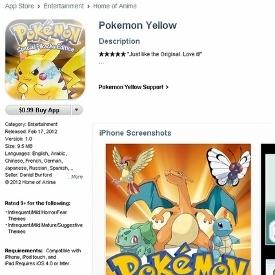 apple pulls fake pokemon app