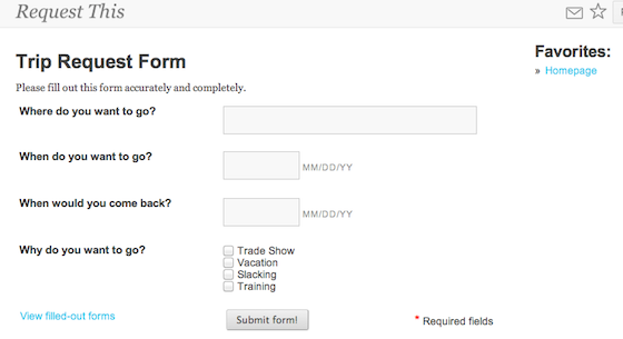 Create forms in Papyrs