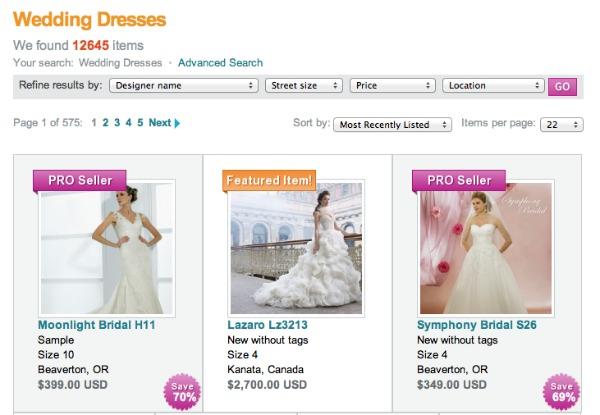 recycled bride screenshot