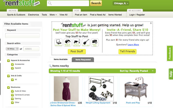 RentStuff.com search