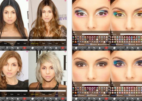 ultimate beauty virtual makeover app screenshot