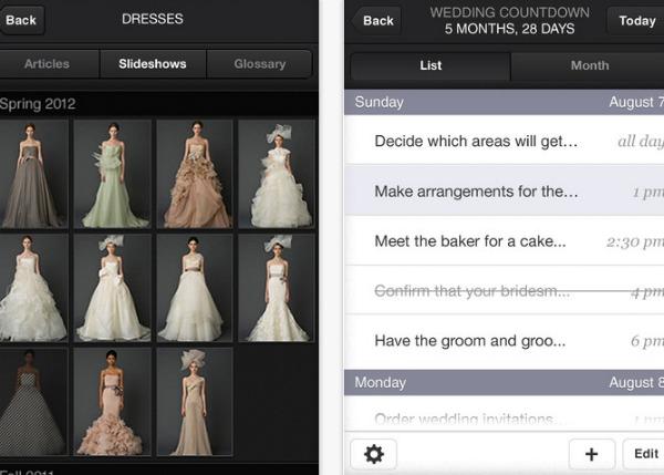 vera wang for weddings app screenshot