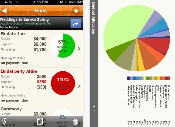 wedding planner app screenshot