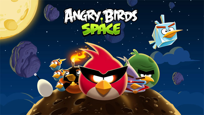 Showcasing the new space design of the Angry Birds