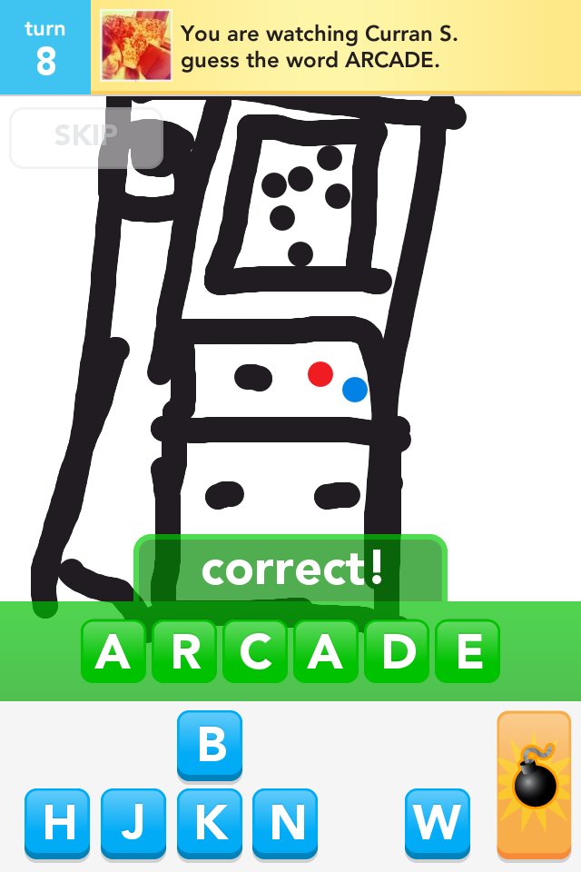 Sample image of OMGPOP's hit game, Draw Something