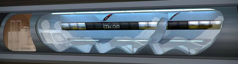 Concept for Evacuated Tube Travel Passenger Car