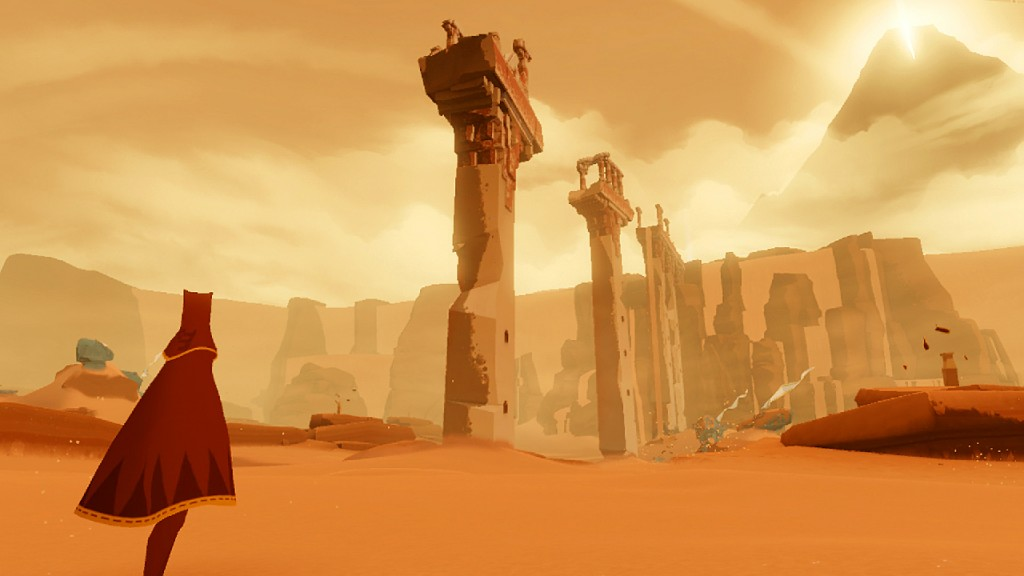 A valley encountered in PS3 exclusive Journey