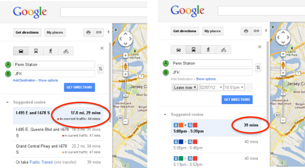 Google Maps Incorporates Traffic Trends