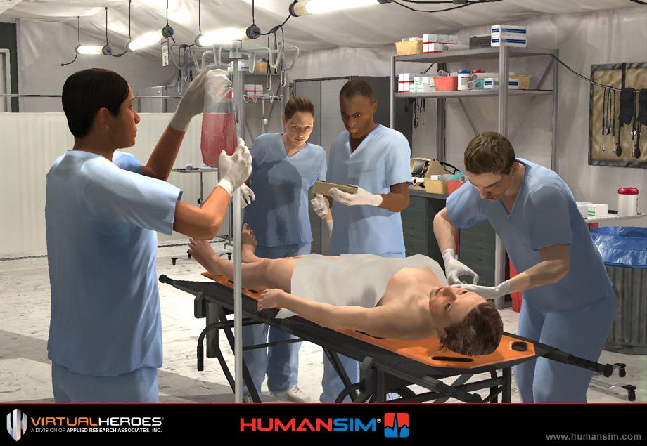 An Unreal powered medical training simulator, HumanSim