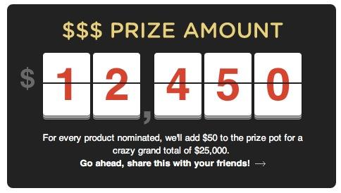 A screencap of AKTA's current prize total