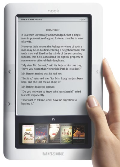 Barnes and Noble's Nook e-reader