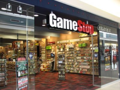 A GameStop storefront