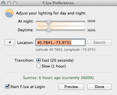 f.lux screenshot 4