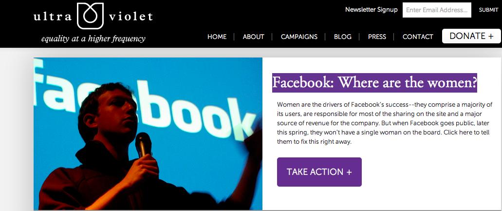 Facebook feminist protest