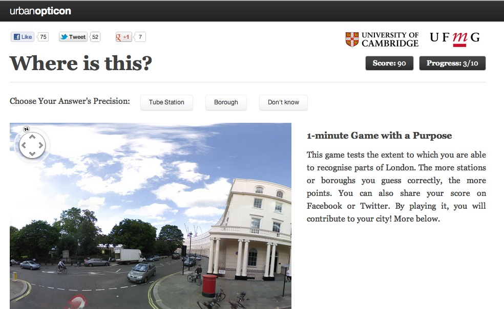 The Urbanopticon Project homepage