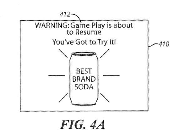 A concept image for Sony's game interrupting patent