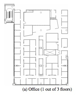 The office floor layout used by the MS Research team