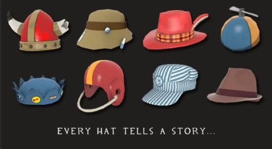 Some hats from Team Fortress 2