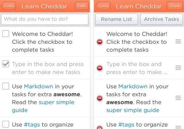 cheddar app screenshot