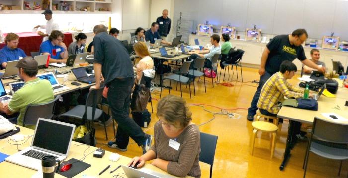 makerbot hackathon room