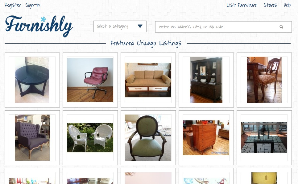 Furnishly the online market for fine local furniture techli for Places to sell furniture online