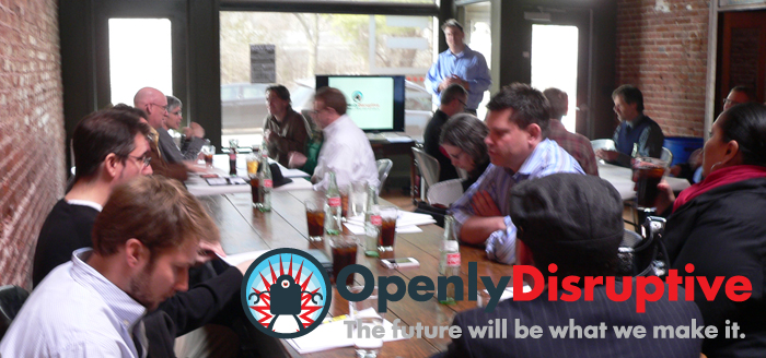 Featured slide for Disruptive Diner October lunch