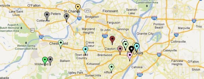 st. louis startup map