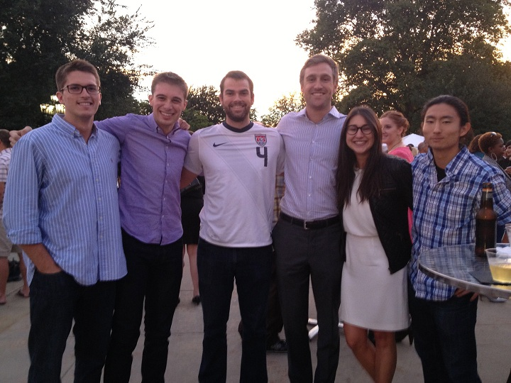 Six of the eight Cleveland Venture for America fellows.